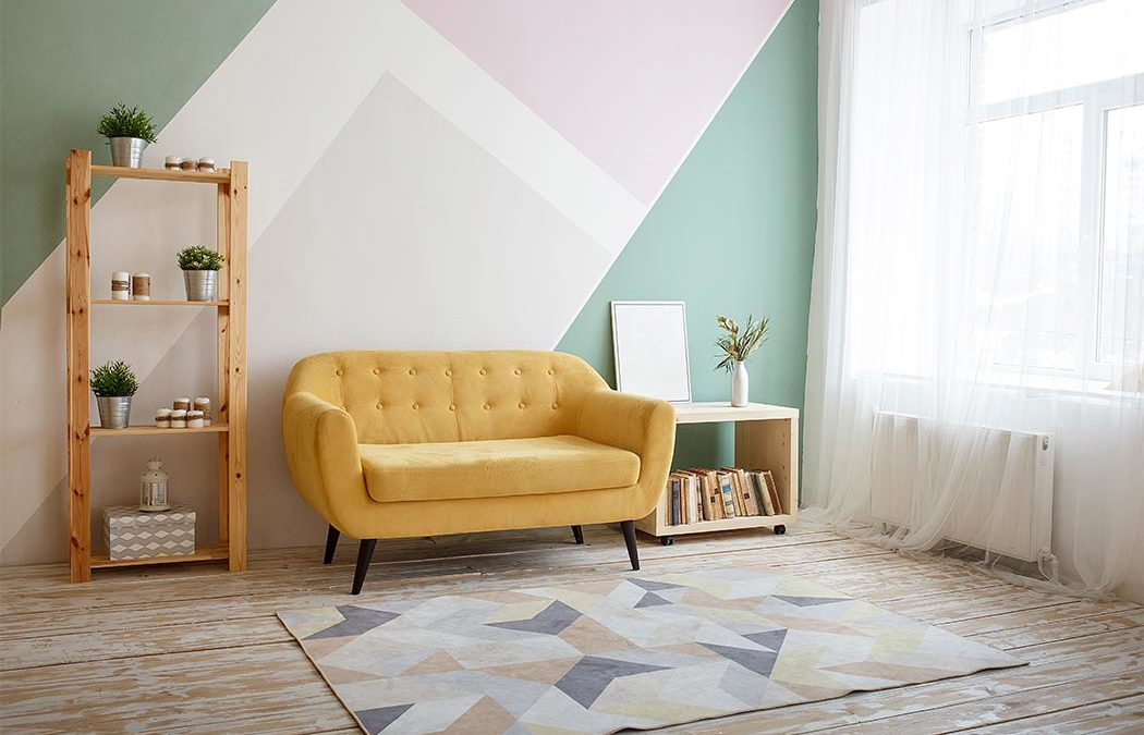 pintura sectorizada en diseño de interiores, decoración Vigo